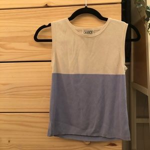 Silk Color Block Muscle Top